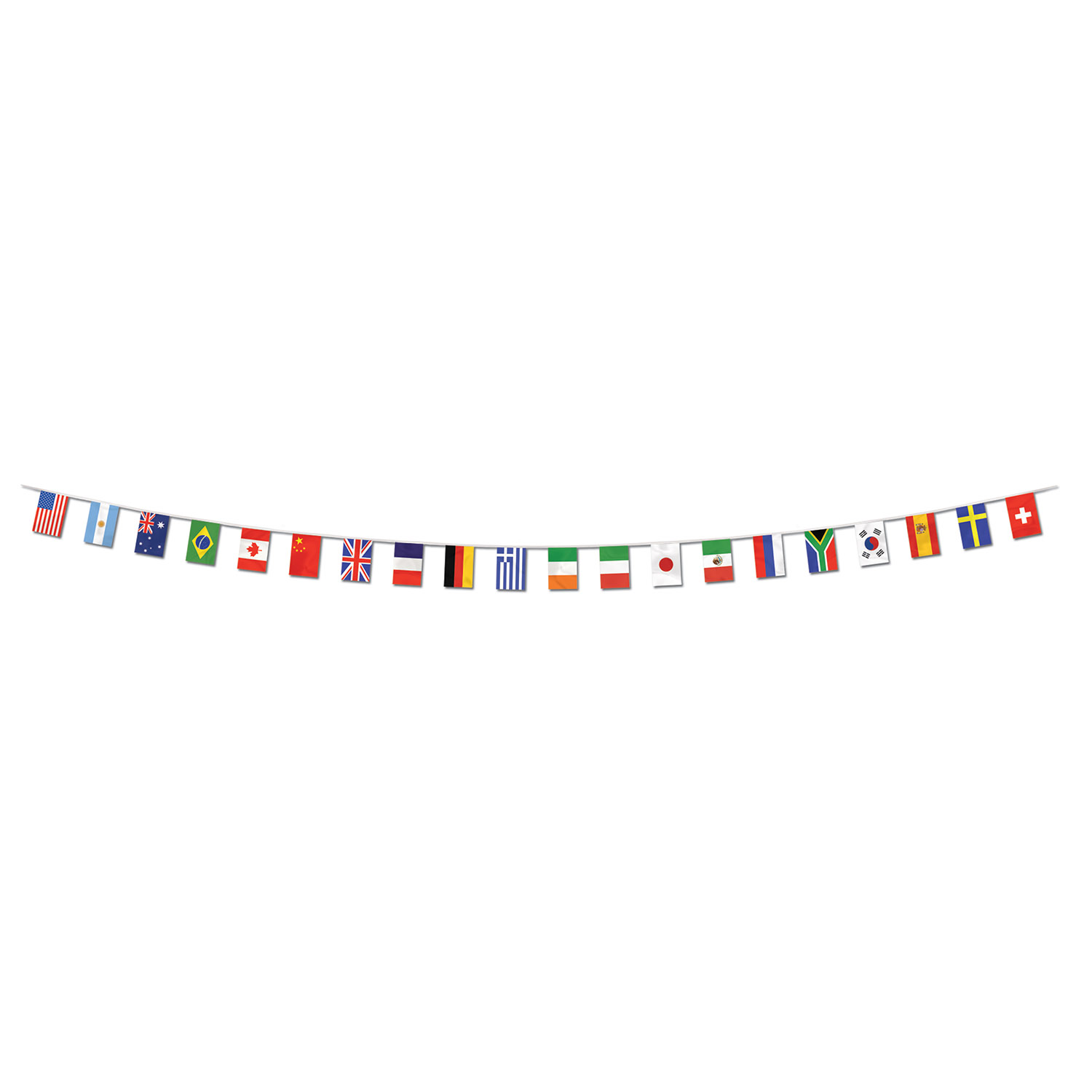 8c8b8cb79094 International Flag Pennant Banner (all-weather 20 flags string ...
